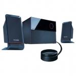 Акустическая система, Microlab, M-200 (09), 2.1, 40Вт (12Вт2+16Вт), Выход 2RCA/Для наушников 3.5 MiniJack, Вход 2RCA, Проводной пульт ДУ, Чёрный