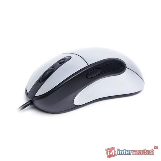 Мышь Delux DLM-512OUB 5D, (Серебристо-Чёрный)