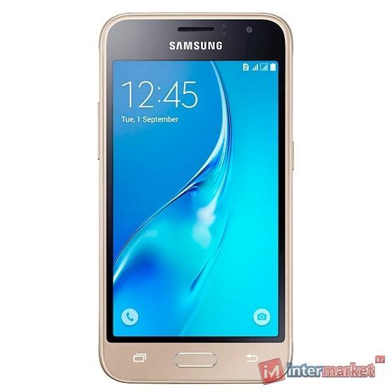 Смартфон Samsung Galaxy J1 (2016) SM-J120F/DS, Gold